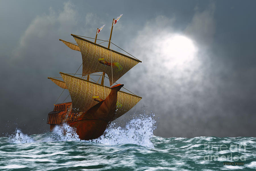 Sailing Painting - The Eagle by Corey Ford