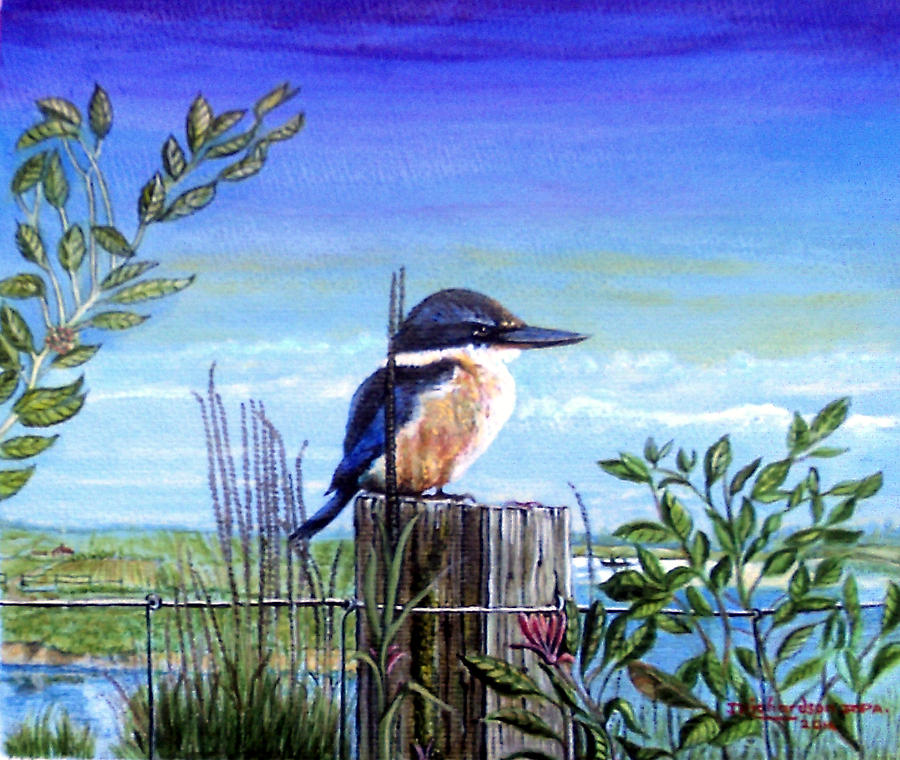 King Fisher Painting - The Early Bird by James Richardson