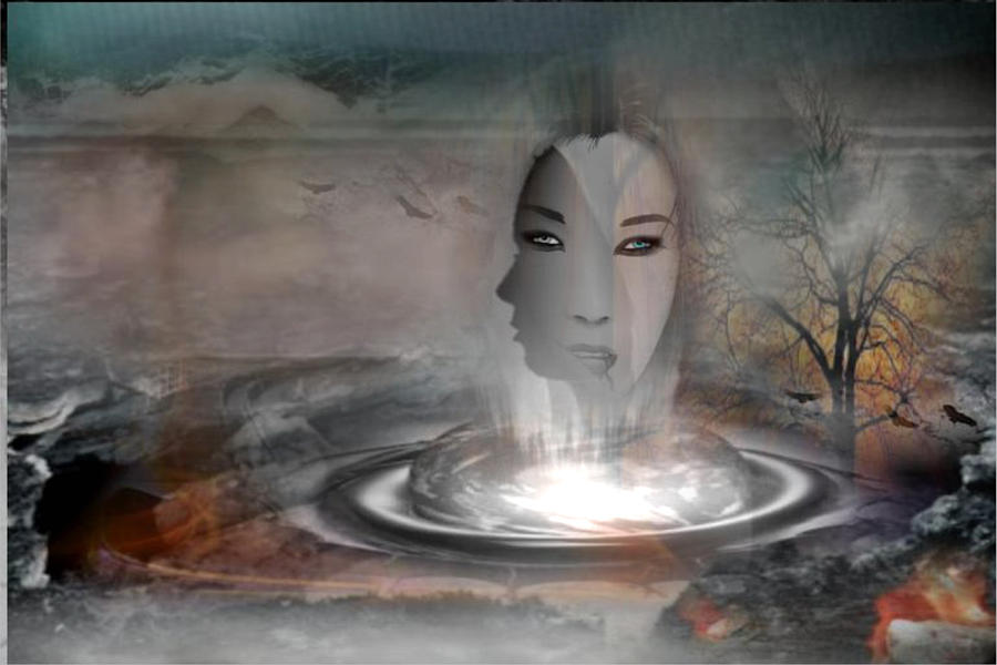 Earth Digital Art - The Earth Is Burning by Maria Datzreiter