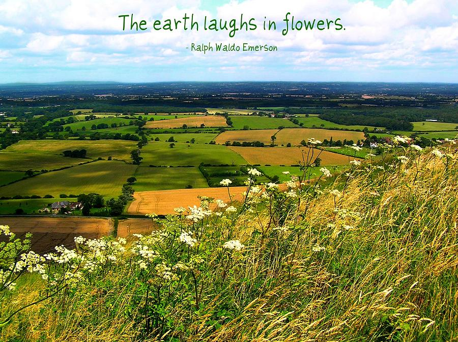 Affirmation Photograph - The Earth Laughs In Flowers by Jen White