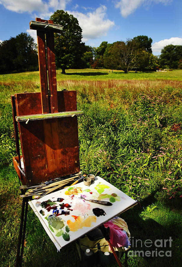 Easel Photograph - The Easel by Jim  Calarese
