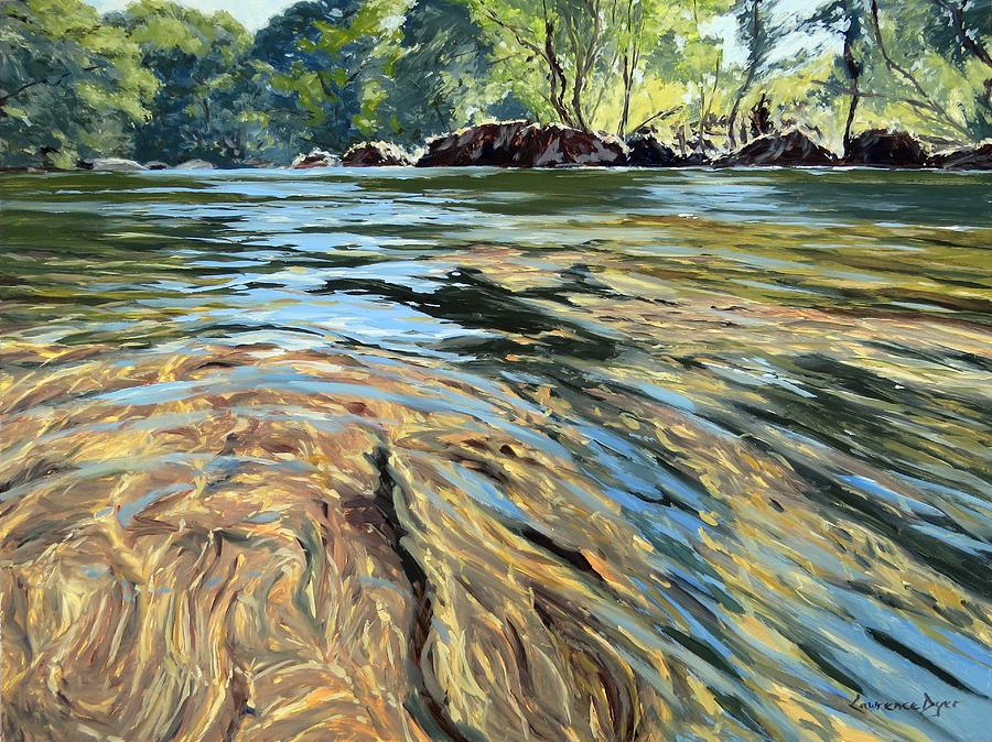 Dartmoor Painting - The East Dart River Dartmoor by Lawrence Dyer