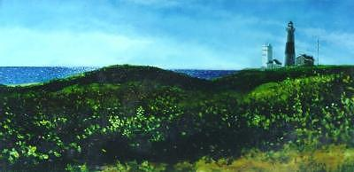 Montauk Point Painting - The East End - Montauk Point by Ralph Papa