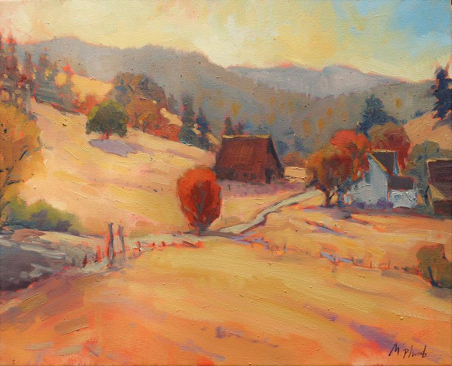 Fields Painting - The East View by Margaret  Plumb