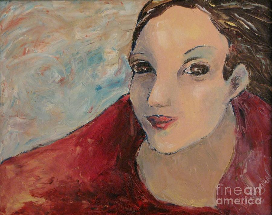 Female Painting - The East Wind by Linda Vespasian