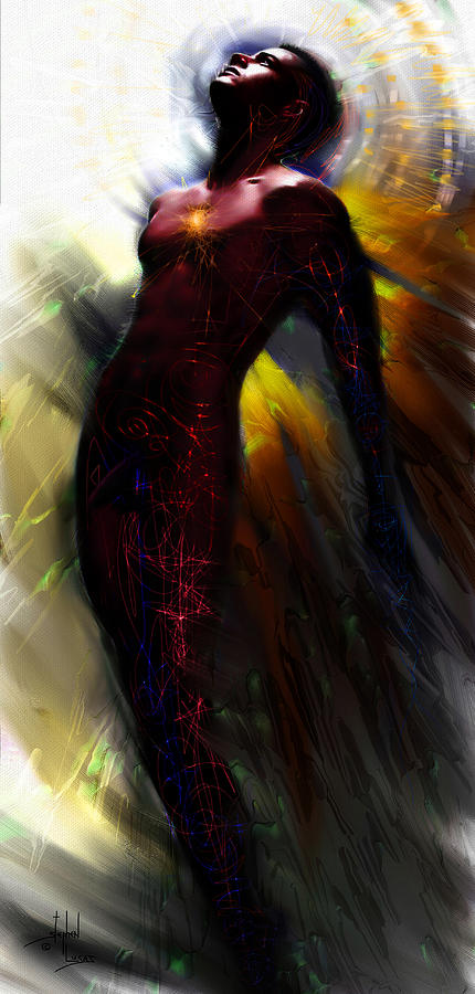 Angel Digital Art - The Ecstasy Angel by Stephen Lucas