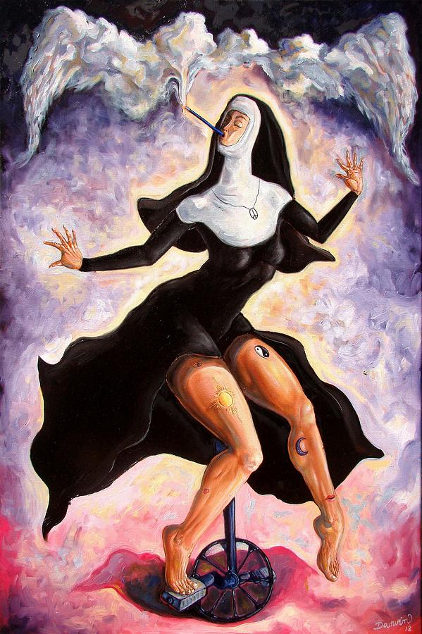 Surrealism Painting - The Ecstasy Of Mother Liberation  by Darwin Leon