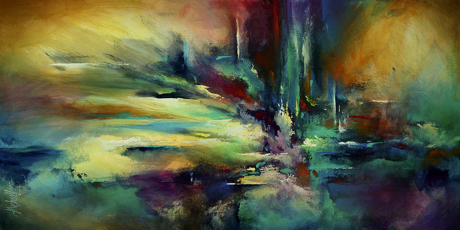 Abstract Design Painting - the Edge by Michael Lang