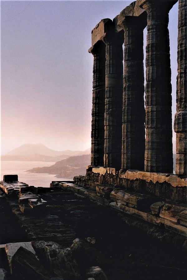 Greece Photograph - The Edge Of The World by Betsy Botsford