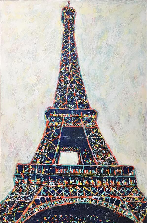 Eiffel Painting - The Eiffel Tower by Cristina Stefan