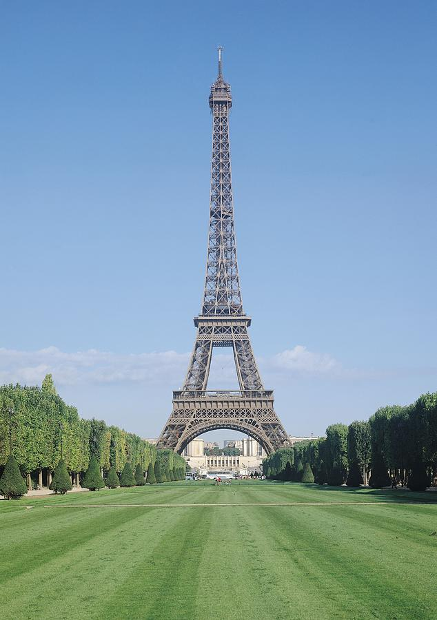 The Photograph - The Eiffel Tower by French School