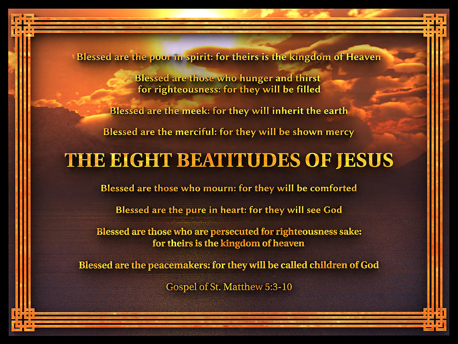 The Eight Beatitudes of Jesus by William Ladson