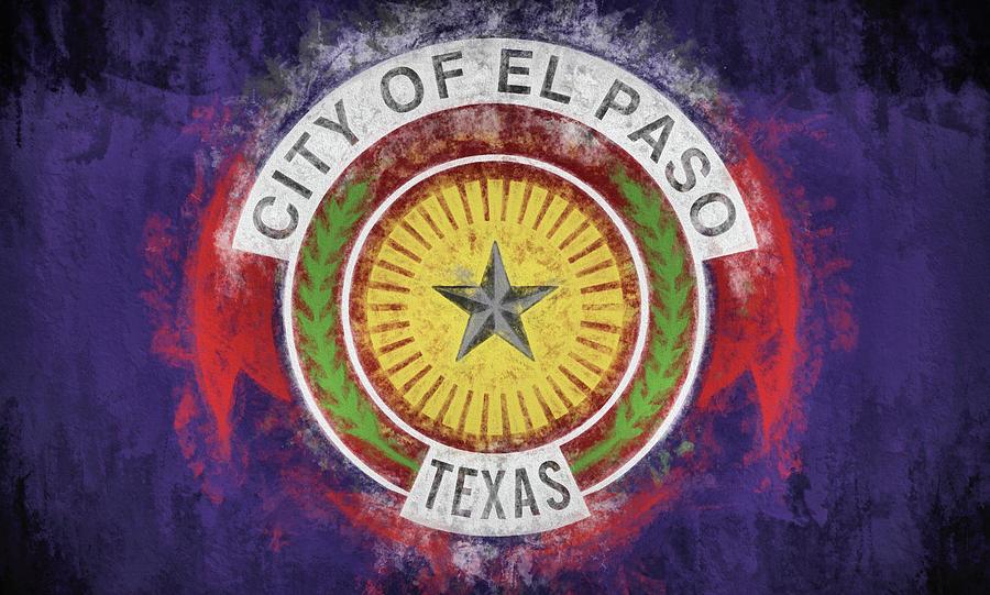 El Paso Digital Art - The El Paso Flag by JC Findley