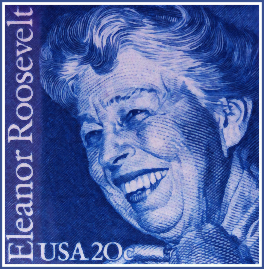 October 11 Painting - The Eleanor Roosevelt Stamp by Lanjee Chee