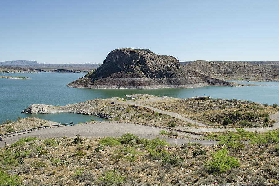 Elephant Butte Photograph - The Elephant At Elephant Butte Lake  by Allen Sheffield