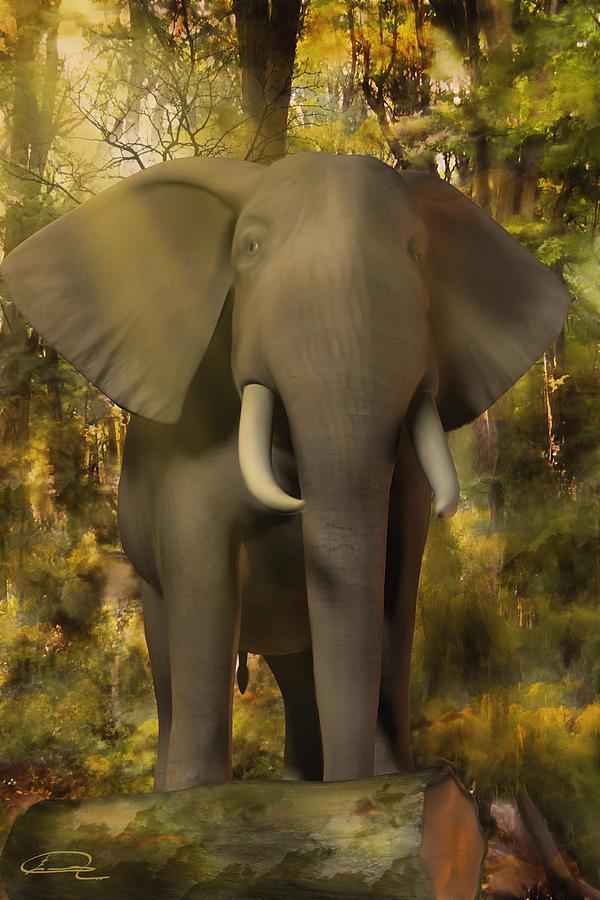 Animal Painting - The Elephant by Emma Alvarez
