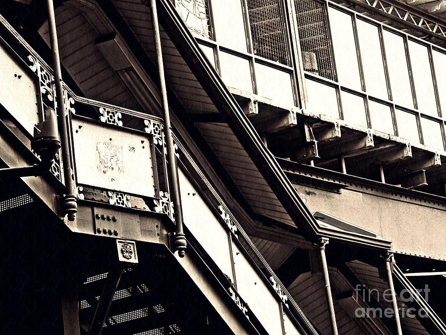 Subway Photograph - The Elevated Station At 125th Street 2 by Sarah Loft