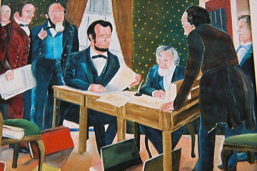Historical Painting - The Emancipation by Desenclos Patrick