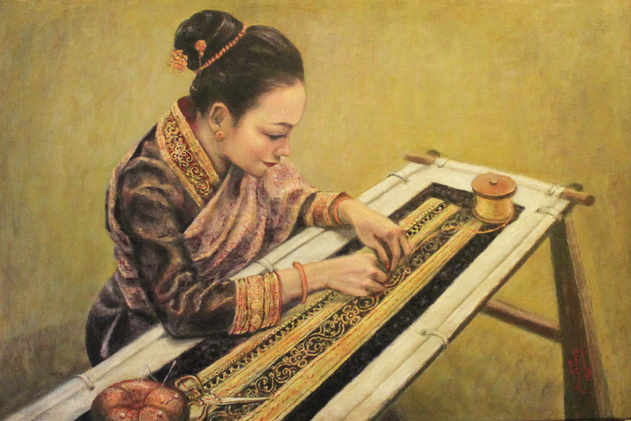 The Embroiderer by Sompaseuth Chounlamany