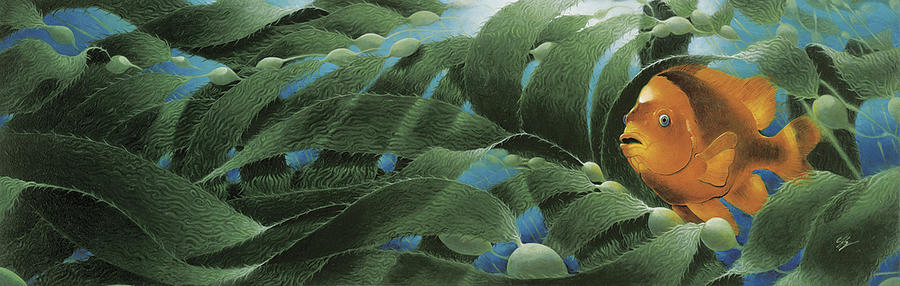 Coral Reef Painting - The Emerald Forest by Durwood Coffey