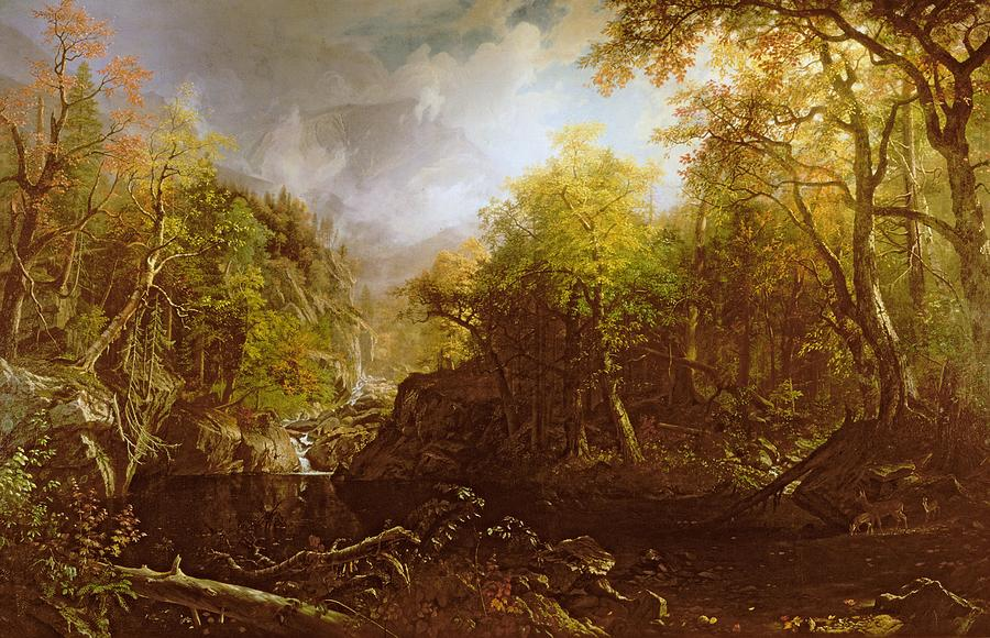 Landscape Painting - The Emerald Pool by Albert Bierstadt