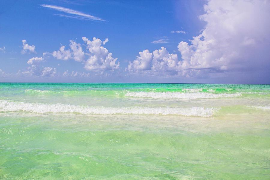 Destin Florida Photograph - The Emerald Shore Of Destin, Fl by Damien Tullier