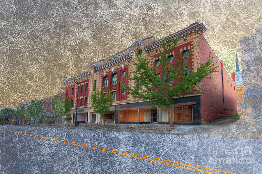 Hdr Digital Art - The Empire Hotel by Larry Braun