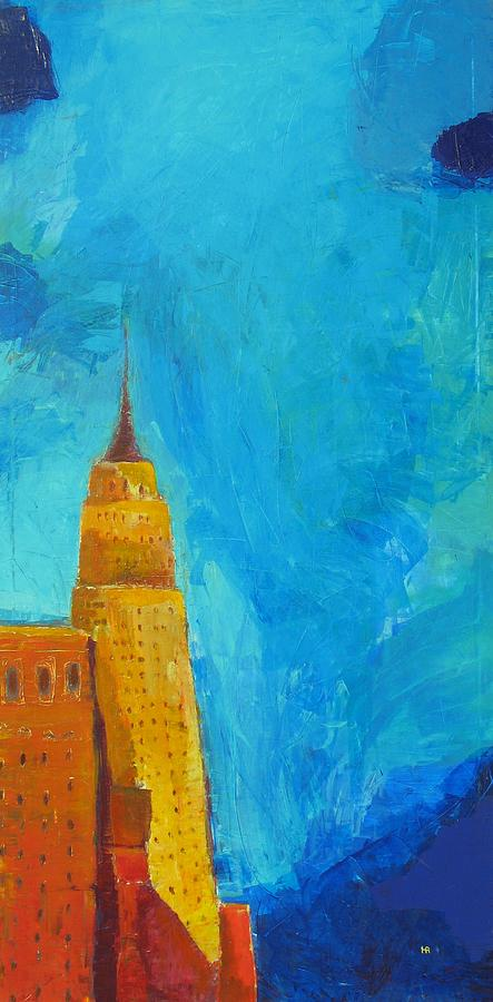 Abstract Cityscape Painting - The Empire State by Habib Ayat