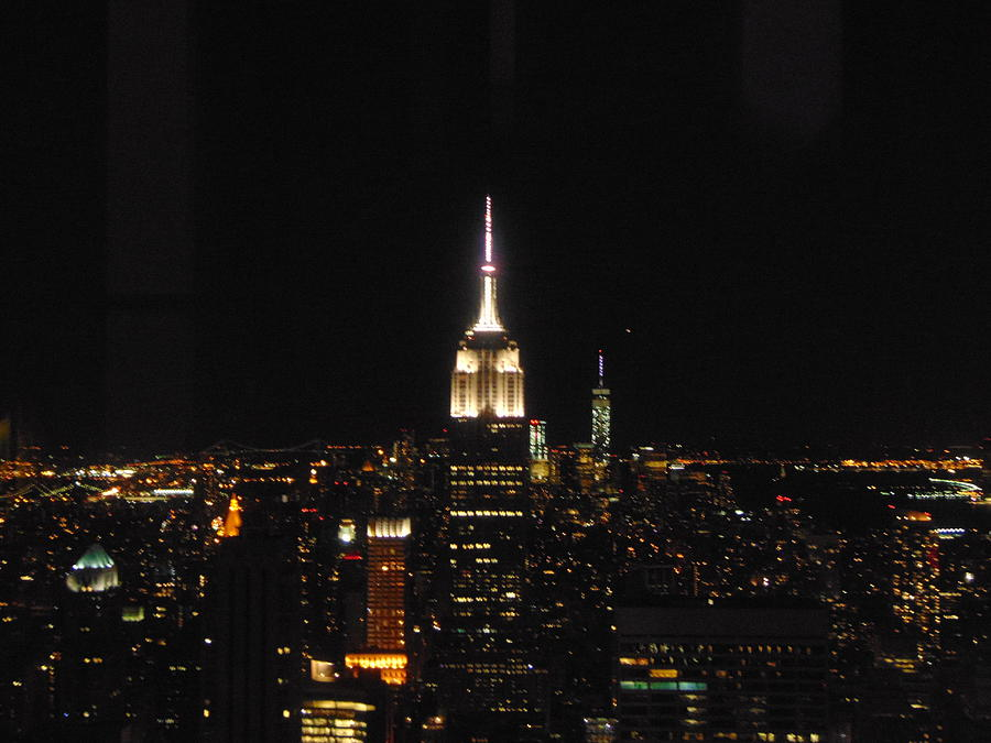 New York Photograph - The Empire States At Night by Susy Wilkinson