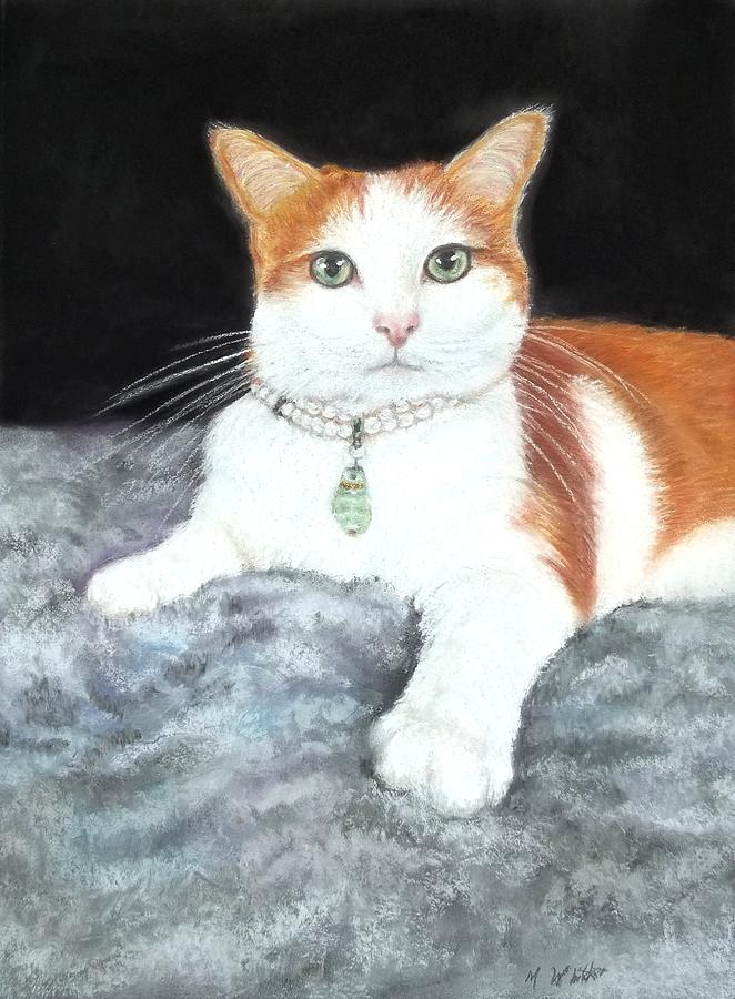 Pastel Pet Portraits Pastel - The Empress Josephine by Melodye Whitaker