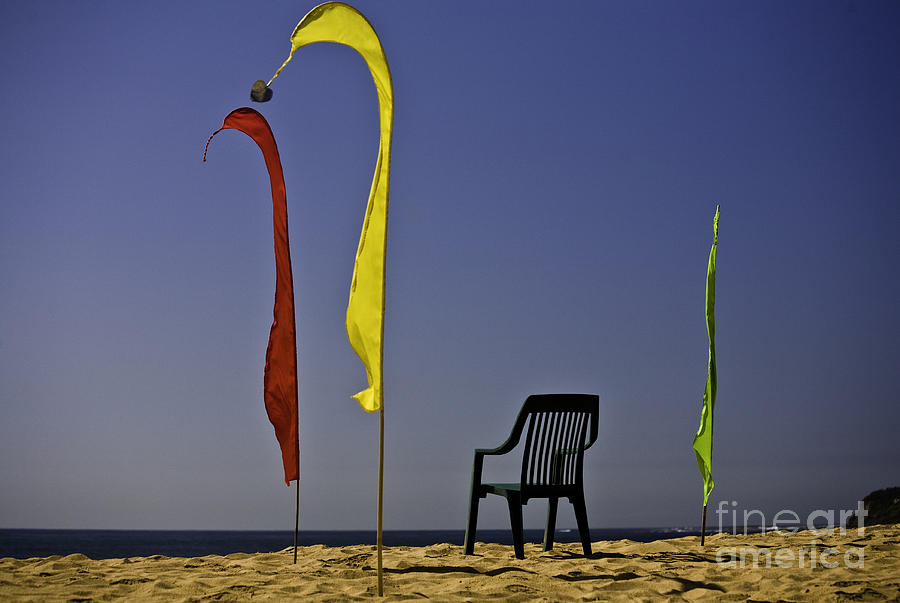Beach Photograph - The Empty Chair by Sheila Smart Fine Art Photography