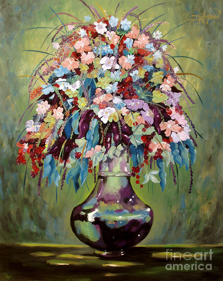 Still Life Painting - The Empty Vase by Milagros Palmieri