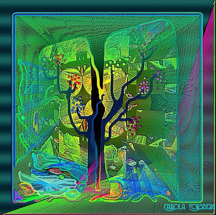 The Enchanted Forest Digital Art by Carola Ann-Margret Forsberg