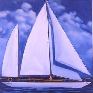 Sail Boat Painting - The Enchanter by Rand South