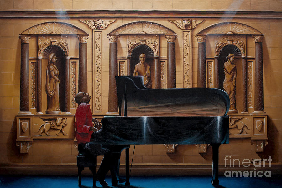 Oil Paintings Painting - The Encore by Clement Bryant