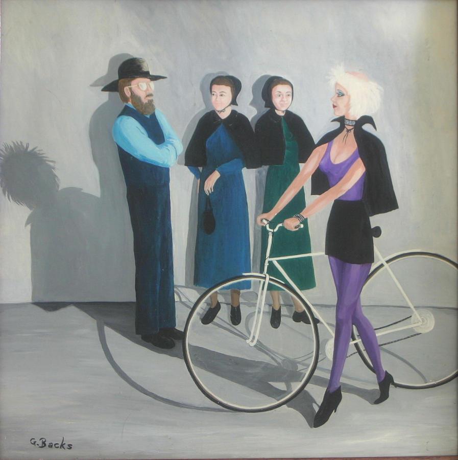 People Painting - The Encounter by Georgette Backs