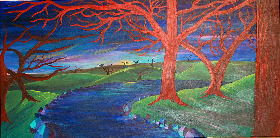 Dead Trees Painting - The End by Alexia Lounds