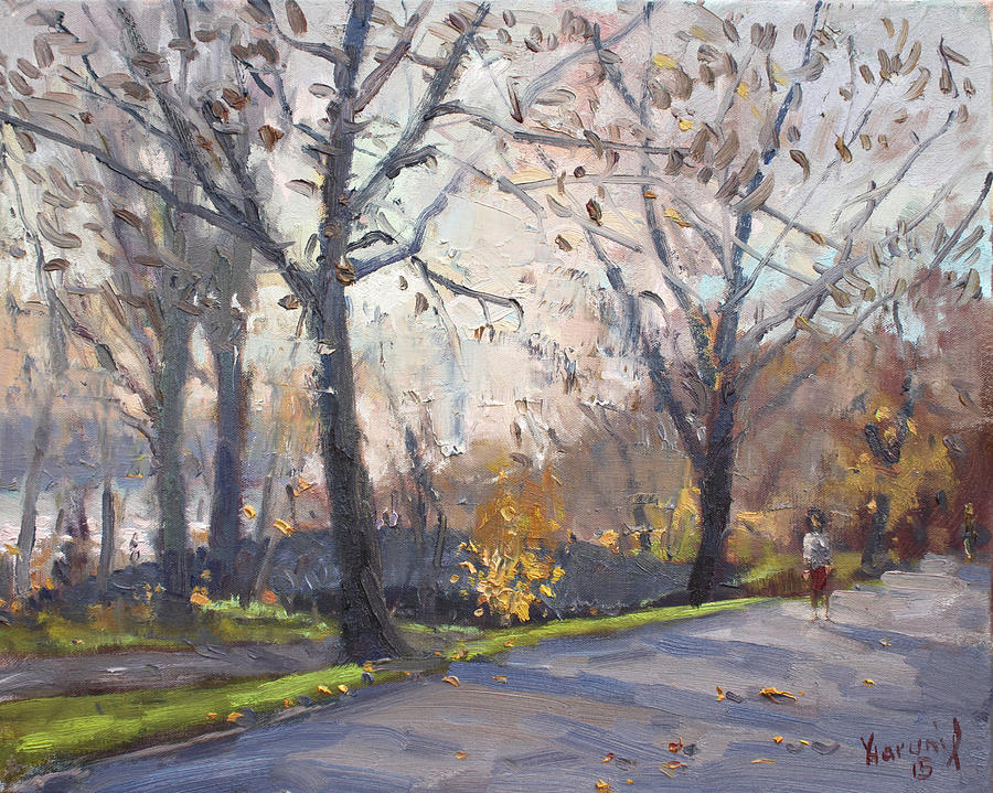 Three Sisters Islands Painting - The End Of Fall At Three Sisters Islands by Ylli Haruni