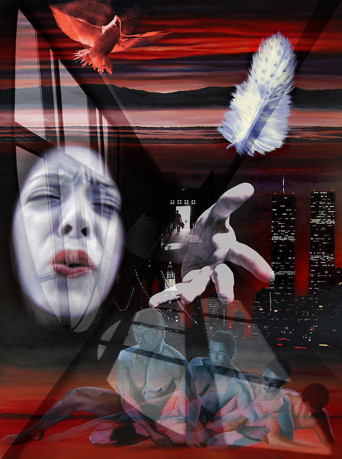 New-york Mixed Media - The End of Innocence or 9-11 by Richard Meric