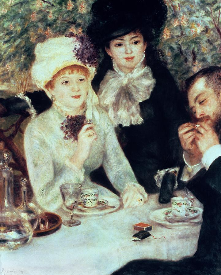The Painting - The End Of Luncheon by Pierre Auguste Renoir