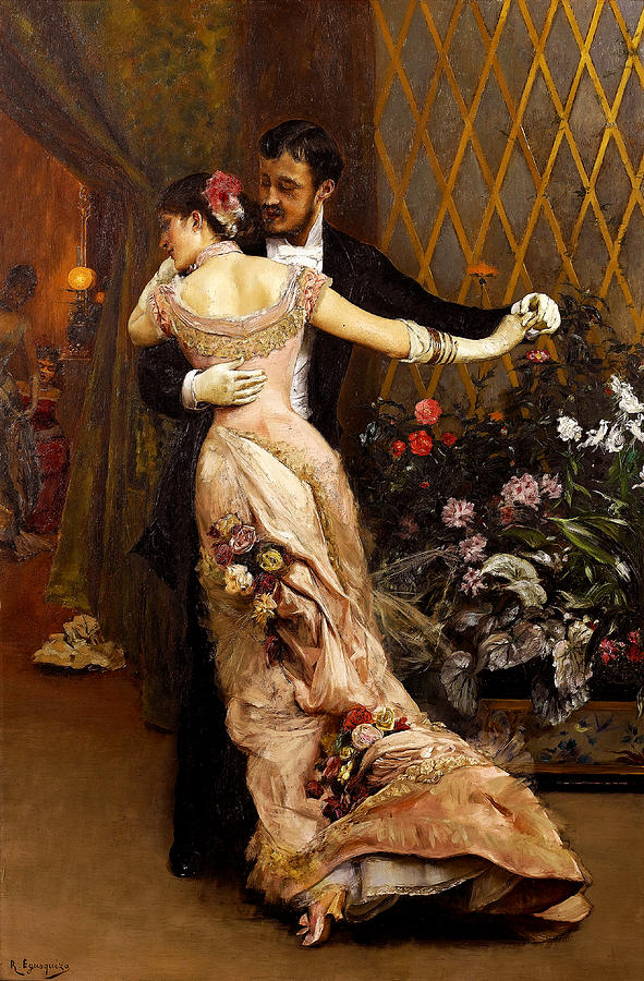 Rogelio De Egusquiza Painting - The End Of The Ball by Rogelio de Egusquiza