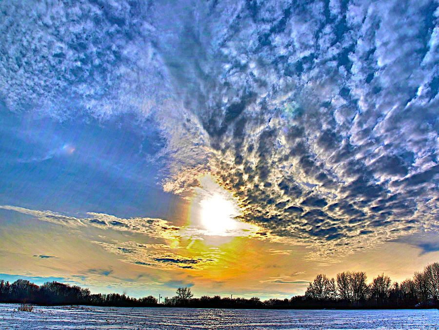 Snow Photograph - The End Of The Day by Robert Pearson