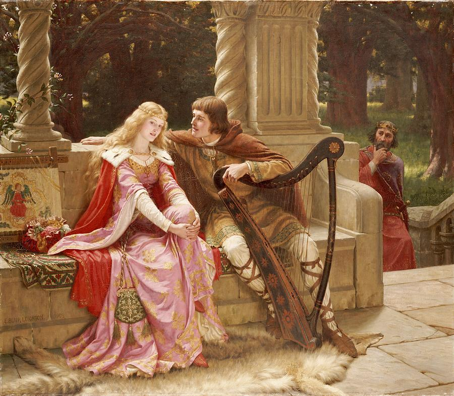 Valentine's Day Painting - The End Of The Song by Edmund Blair Leighton