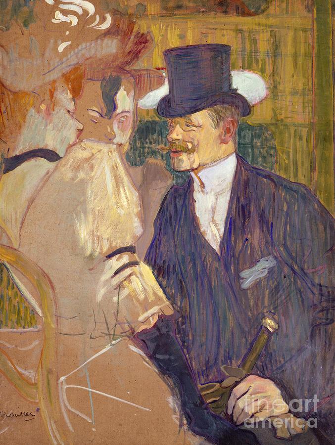 Gent Painting - The Englishman  by Henri de Toulouse-Lautrec