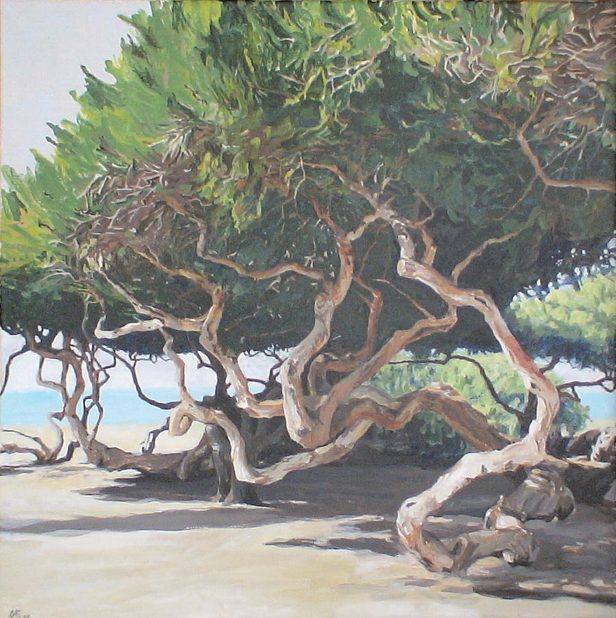 Landscape Painting - The Enigmatic Trees by Jackie Hoats Shields