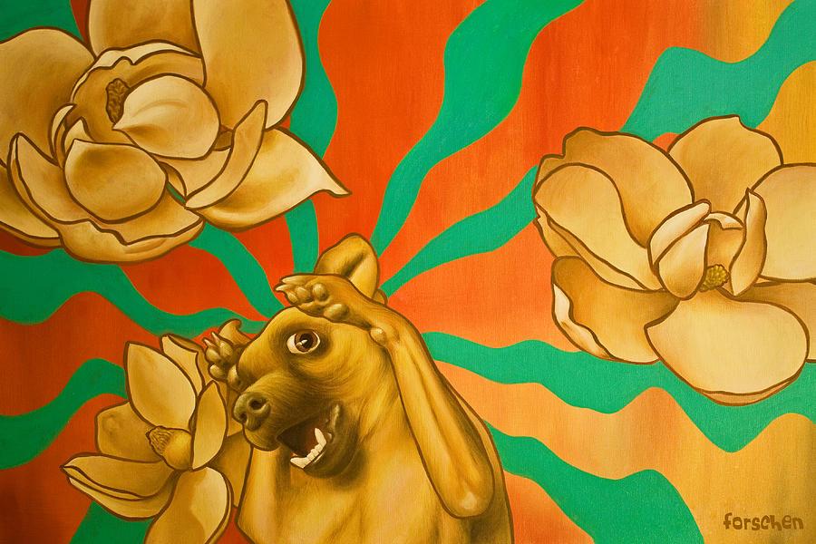 Dog Painting - The Enlightenment Of Fifi by Kurt Forschen