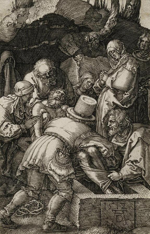 Albrecht Durer Relief - The Entombment  by Albrecht Durer