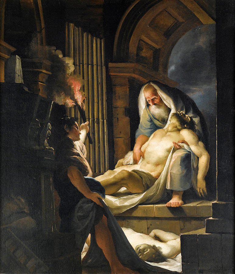 The Entombment Painting - The Entombment by Giovanni David