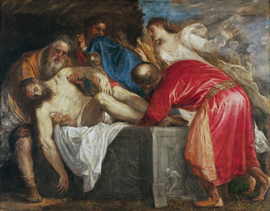 The Painting - The Entombment Of Christ by Titian