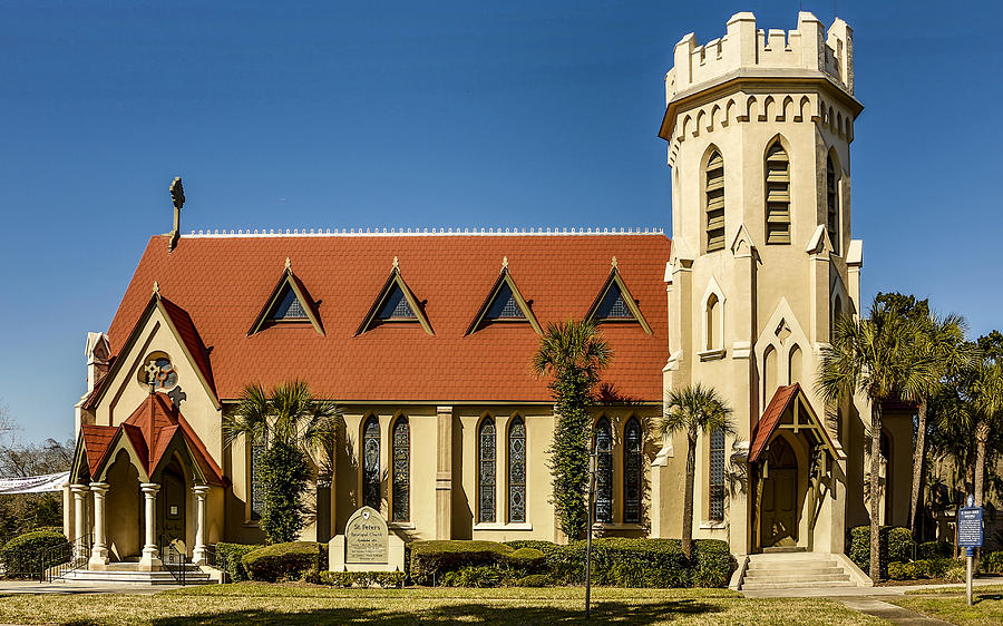 The Face Of God Photograph - The Episcopal Church Of Fernandina Beach by Paula Porterfield-Izzo